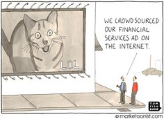 """""""crowdsourcing ads"""" - new cartoon and post on bringing fans into the creative process http://tomfishburne.com/2013/05/crowdsourcing.html"""