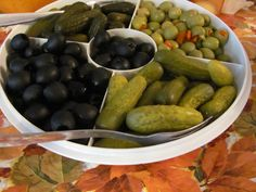 pickles and olives, gonna add gourmet olives
