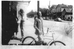 A 13 yo Elvis Presley standing in the streets of Tupelo