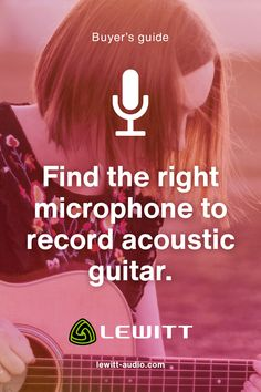 You are probably wondering which microphone is right for you. We have created a small overview from our line so that you can easily find the perfect microphone to record your acoustic guitar - small diaphragm condenser, stereo kits, and large diaphragm condenser - the choice is yours. Great sound in no time. Sound Words, Asmr, Revolutionaries, Acoustic Guitar, High Low, Content, Autonomous Sensory Meridian Response, Acoustic Guitars