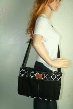 d2bbb6de0dd4 Diaper bag by IOMOMMY black white designer cotton canvas  IOMOMMY Cute  Diaper Bags
