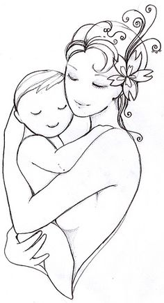 Mermaid's sketch | Flickr - Photo Sharing! Mother Child Tattoo Flash Art ~A.R.