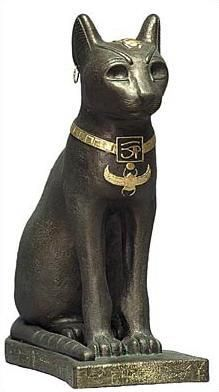 Egyptian Cat Bastet - is the name commonly used by scholars today to refer to a feline goddess of ancient Egyptian religion who was worshipped at least since the Second Dynasty. Her name is also spelled Bast, Baast, Ubasti and Baset