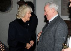 Duchess Camilla chatting to Simon Callow at Maggie's Christmas Carol concert at St Paul's Cathedral on December 16th.