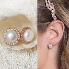 Buy Now Bridal Earrings Stud Earrings Pearl Earrings Wedding... Pearl Earrings Wedding, Pearl Stud Earrings, Pearl Studs, Bridal Earrings, Pearls, Stuff To Buy, Jewelry, Bride Earrings, Jewlery