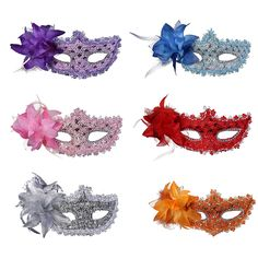 Halloween Masquerade Dance Party Sexy Women Lady Mask with Flower