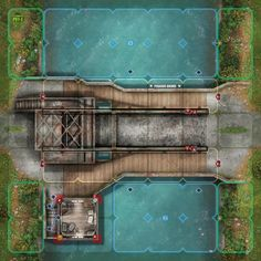 Devil Pig : Pegasus Bridge Tiles preview Virtual Tabletop, Tabletop Rpg, Fantasy Map Making, Pig Games, Board Game Design, Fantasy Battle, Dungeon Maps, Pegasus, Dungeons And Dragons