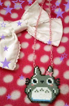 My Neighbor Totoro hama mini beads necklace