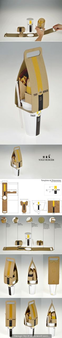 Concept - TOGO burger #packaging #design | by Seulbi Kim                                                                                                                                                      Más
