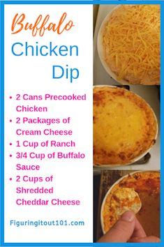 Buffalo Chicken Dip - Favorite Recipes - Figuring It Out Buffalo Chicken Dip, Appetizers, buffalo chicken, Buffalo Chicken Dip, buffalo - Buffalo Chicken Dips, Pollo Buffalo, Buffalo Chicken Dip Crock Pot Recipe, Teriyaki Chicken, Canned Chicken, Bbq Chicken Dip, Potluck Recipes, Spicy Recipes, Easy Dip Recipes