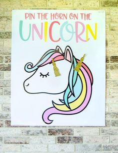 Pin the horn on the unicorn. Its a LARGE file, so a professional print shop, FedEx or Kinkos is a must. This listing is for PRINTABLE Pin The Horn On the Unicorn Game: • PDF File, Unicorn