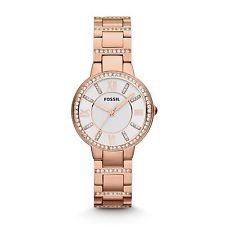 FOSSIL WOMENS #VIRGINIA *12 YEAR WARRANTY* GOLD CRYSTAL STAINLESS WATCH ES3284 http://ebay.to/1CTNSjX