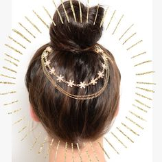 Gold hair chain accessory Add a pop of flare to your messy bun. New in packaging. ☀️15% off bundles for new buyers☀️25% off bundles for repeat buyers ☀️ CupofTea Accessories Hair Accessories