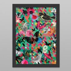 Animals Bright Print by Cloud 9 Creative - Art Prints NZ Art Prints, Design Prints, Posters & NZ Design Gifts | endemicworld