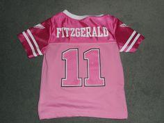 Toddler Girls Pink & White ARIZONA CARDINALS #11 FITZGERALD NFL Jersey, Size 3T #NFLTEAMAPPAREL #ArizonaCardinals