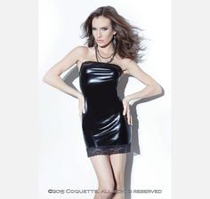 a488df52931c4 Coquette Darque Wet Look Tube Dress