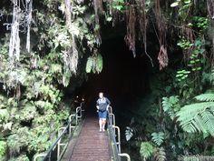 Thurston Lava Tube (Nahuku)  Em frente à entrada para a Kilauea Iki está o Thurston Lava Tube, um túnel de lava formado em uma das erupções do Kilauea. Boa parte deste túnel é acessível ao público.