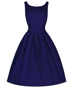 Women's Vintage Scoop Neck Dress