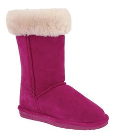 Take a look at this Pom Berry Suede Marissa Boot - Women by BEARPAW on #zulily today!