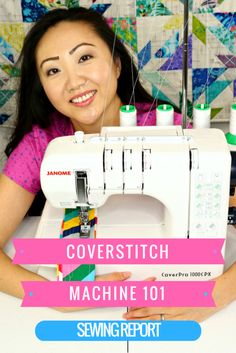 Overview and demo for the Janome CoverPro 1000CPX coverstitch machine. What comes in the box? How do you use a coverstitch machine?