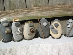 River Stone Nativity Set
