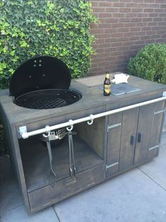 If you are looking for Grill Bar Outdoor, You come to the right place. Here are the Grill Bar Outdoor. This post about Grill Bar Outdoor was posted under the Outdoor Ide. Outdoor Kitchen Bars, Bbq Kitchen, Backyard Kitchen, Outdoor Kitchen Design, Backyard Bbq, Outdoor Bars, Outdoor Ideas, Kitchen Ideas, Kitchen Island