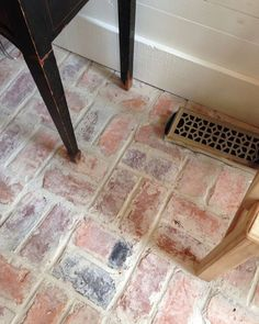 old chicago brick floor tile. this stunning brick veneer started