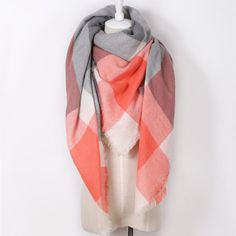 Item Type: Scarves Gender: Women Department Name: Adult Style: Fashion Material: Acrylic, Cashmere Scarves Length: 175cm Pattern Type: Plaid Scarves Shape: Triangle Season : Autumn and Winter