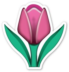 Tulip- emoji stickers