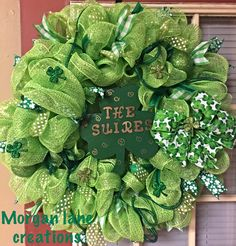 St.patricks day wreath personalized $40 plus shipping