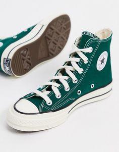 Converse Verte, Mode Converse, Converse All Star, Dark Green Converse, Converse Trainers, Converse Vintage, Green Vans, Converse Chuck Taylor, Girls Shoes