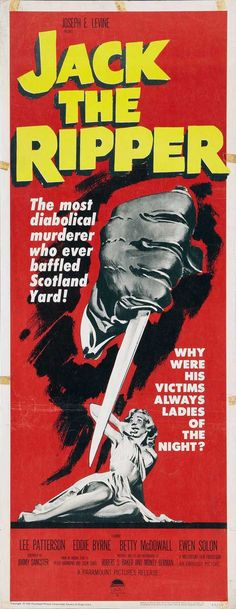 Jack the Ripper posters for sale online. Buy Jack the Ripper movie posters from Movie Poster Shop. We're your movie poster source for new releases and vintage movie posters. Best Movie Posters, Classic Movie Posters, Classic Horror Movies, Movie Poster Art, Classic Films, Horror Movie Posters, Cinema Posters, Old Movies, Vintage Movies