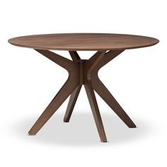 Style your dining space with Scandinavian tones and design, Monte mid-century modern 47-inch round dining table. Constructed of solid rubberwood frame for strong and sturdy quality with stable seating