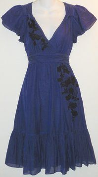 Anthropologie Blue Lithe Petit Four Dress. You'll look pretty in the Anthropologie Blue  dress! Get it for less at Tradesy.com now