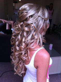 Image result for prom hairstyles half up half down
