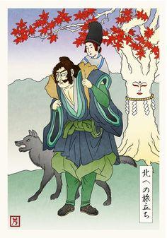 game of thrones nel giappone feudale con l arte ukiyo e5 - DAILYBEST