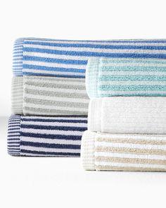 Cynthia Rowley Bath Collection Wide Horizontal Striped 100