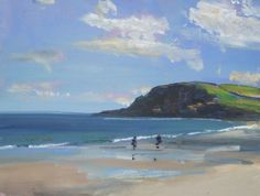 ARTFINDER: Pentewan Sands, Cornwall by Malcolm Ludvigsen - Whenever I go out painting (I'm a plein-air painter) I always take a few 16x12'' boards with me, as well as my larger canvases. After finishing a larger can...