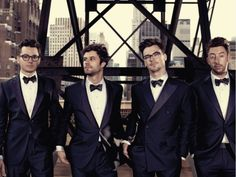 So chique! Passion Pit featured in the Brooks Brothers Fall catalog Mens Suit Stores, Mens Suits For Sale, Wedding Suit Styles, Wedding Suits, Pop Punk, Passion Pit, Grunge, Black Tie Affair, Tuxedo Wedding