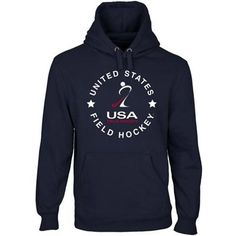 USA Field Hockey Full Circle Pullover Hoodie - Navy Blue