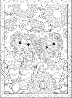 Creative Haven PLAYFUL PUPPIES Coloring Book by: Marjorie Sarnat Welcome to Dover Publications COLORING PAGE 1/5