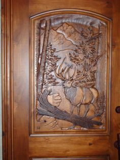 Masterpiece Carved Doors makes some pretty awesome looking hand carved wood doors. Cool Doors, Unique Doors, Wooden Door Design, Wooden Doors, Wood Design, Interior Design Classes, Barn Door Designs, 3d Cnc, Wood Carving Designs