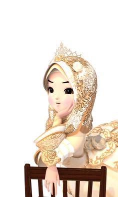Hijab Cartoon, Aesthetic Photography Grunge, Hijabi Girl, Muslim Girls, Line Sticker, Cute Cartoon Wallpapers, Anime Scenery, Diy For Kids, Cute Girls