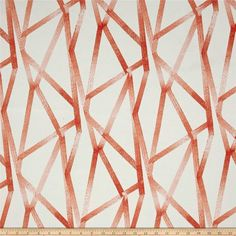 Genevieve Gorder Outdoor Intersections Coral from @fabricdotcom