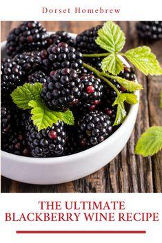 The Ultimate Blackberry Wine Recipe Blackberry Wine, Blackberry Recipes, Homemade Wine Recipes, Healthy Starters, Organic Snacks, Healthy Diet Recipes, Healthy Food, Survival Food, Flat Tummy