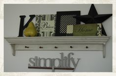 add a letter/shape to shelves and ledges