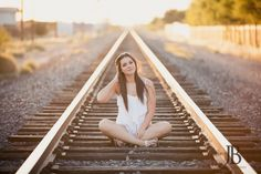 Best photography poses for teens girls train tracks ideas