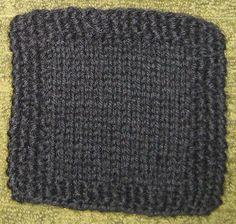 ChemKnits: Simple Seed Stitch Border Coaster Pattern