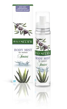 Olivaloe Body Mist Senses Women's Body Mist Body spray that combines notes of vanilla, patchouli and geranium Body Mist, Natural Cosmetics, Body Spray, Aloe Vera, Female Bodies, Body Care, Mists, Personal Care, Beauty