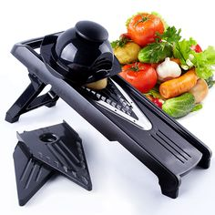 5 Piece Blades Professional V-Slicer  Mandoline Slicer Food Chopper Fruit & Vegetable Cutter kitchen Accessories